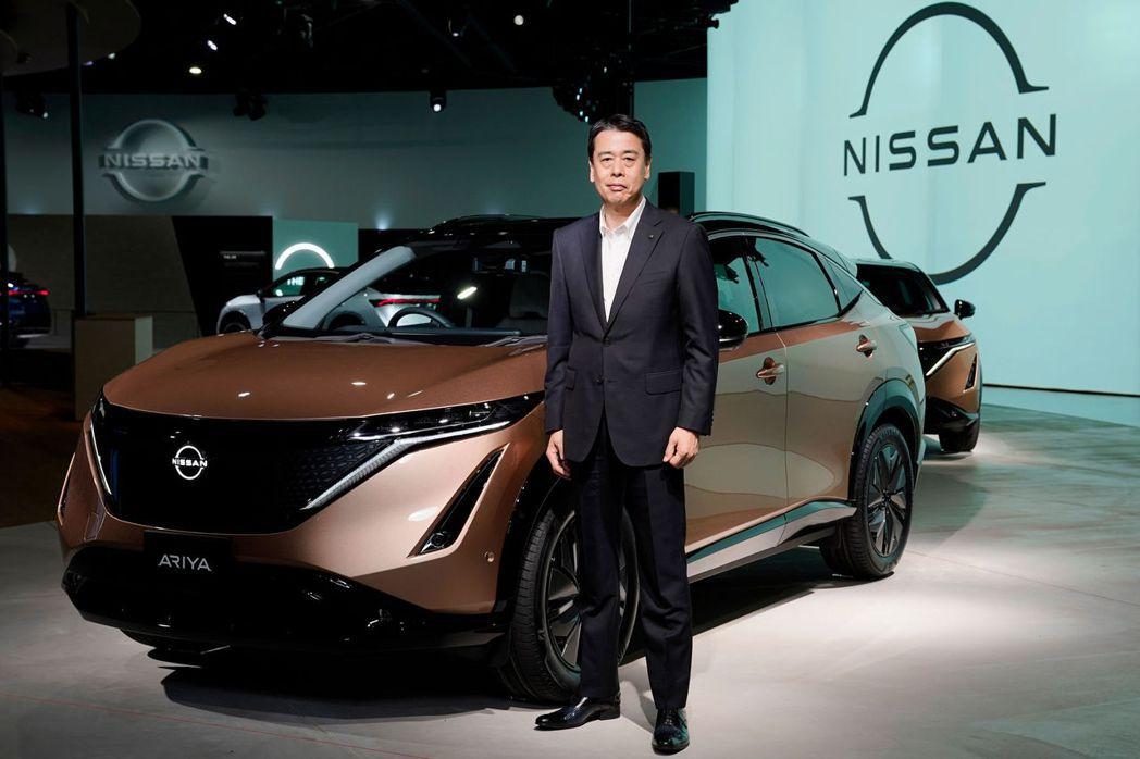 Nissan Ariya與CEO 內田誠。 摘自Nissan