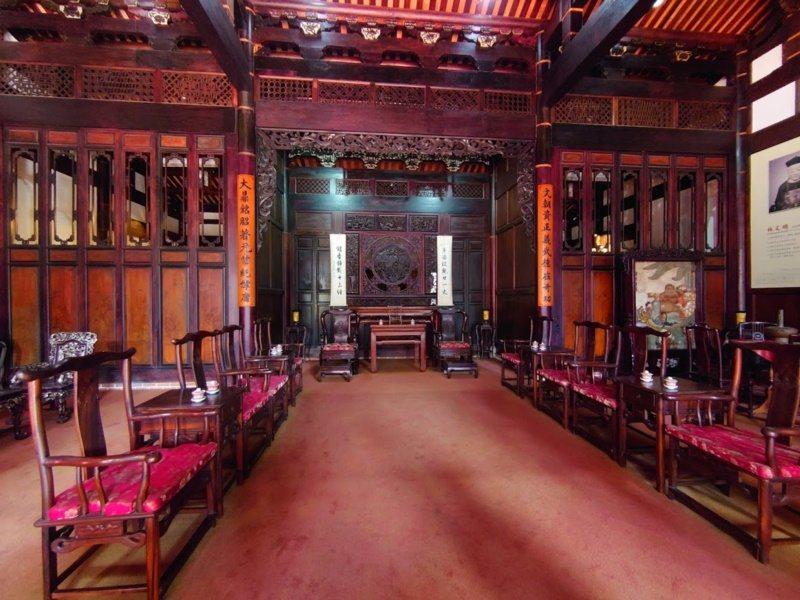 霧峰林家「大花廳」第三落的正廳。 圖/霧峰林家宮保第園區提供