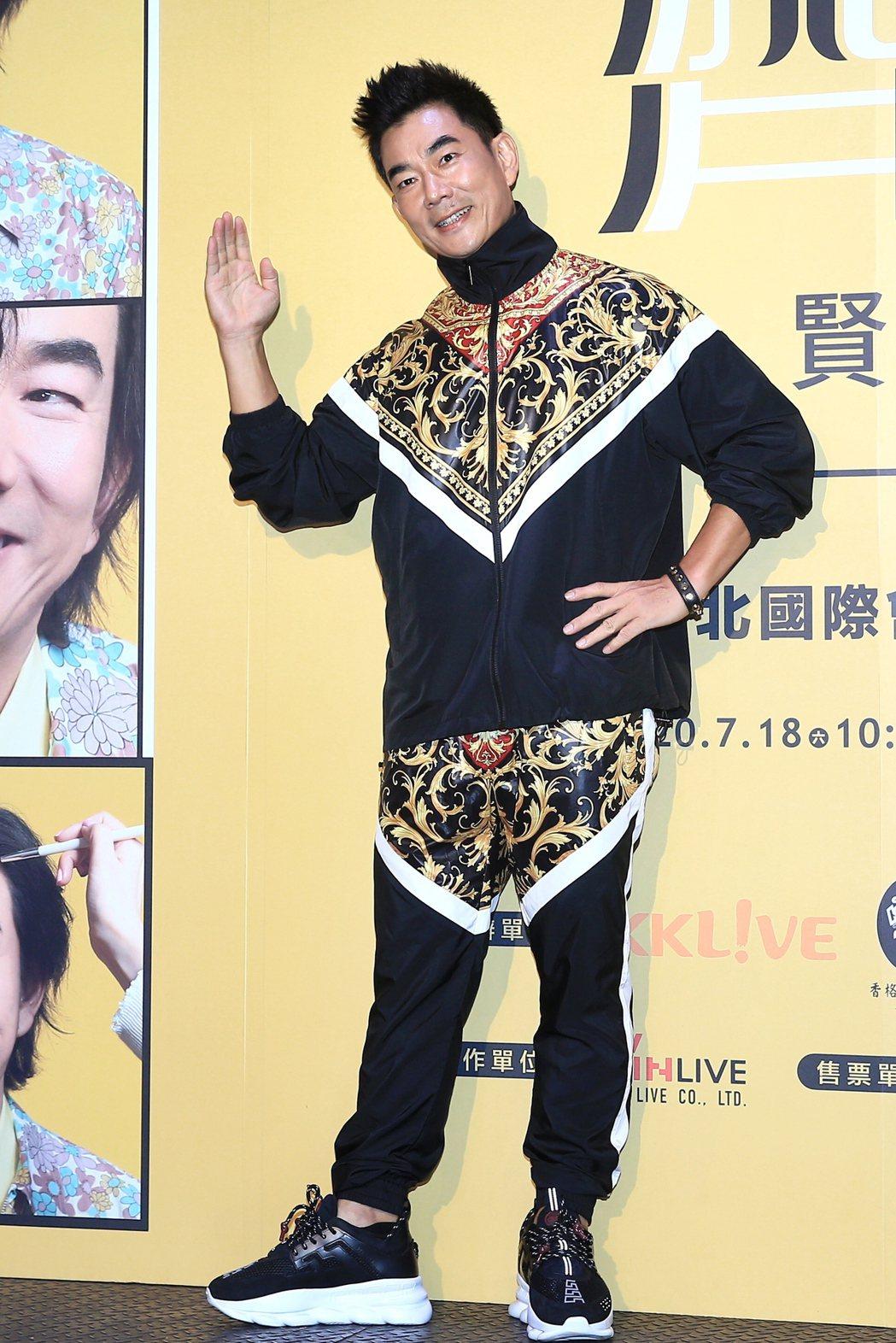 任賢齊在台北舉行「齊跡2020演唱會台北站」記者會,宣傳將回歸台北國際會議中心再