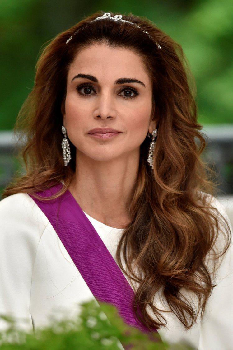 約旦王后拉妮亞,是目前在世的各國皇室美人中之冠。圖/路透資料照片