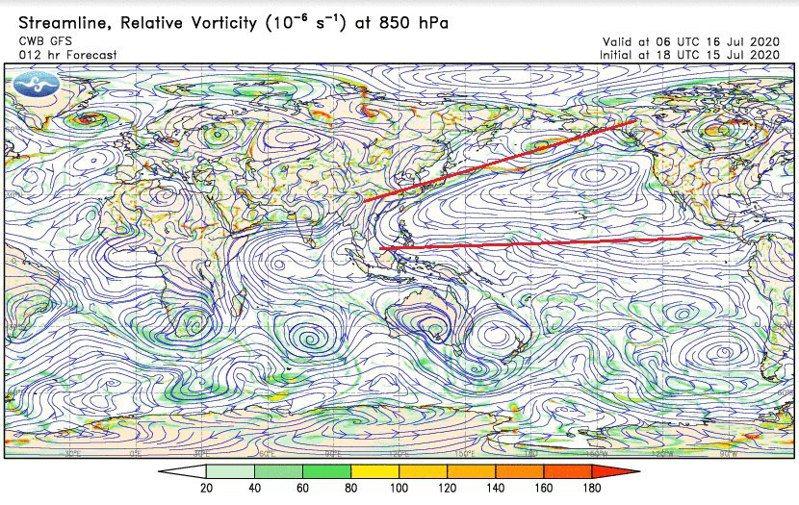 太平洋高壓。圖/取自鄭明典臉書