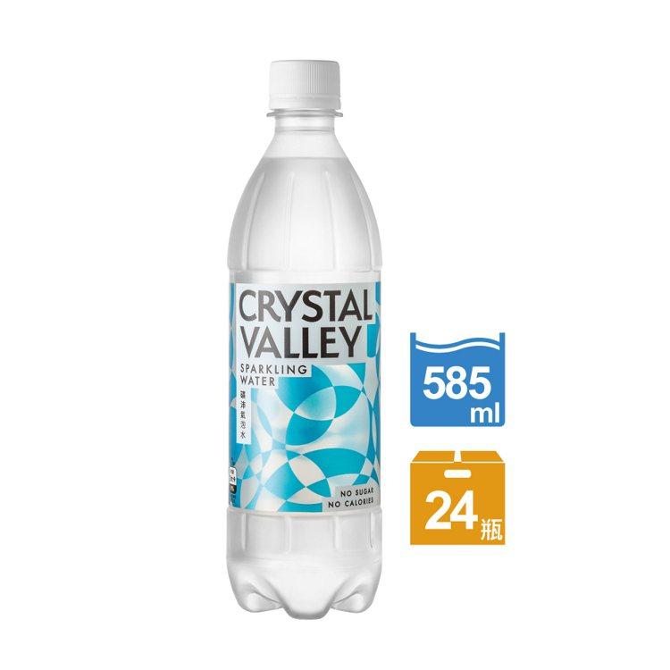 金車CrystalValley礦沛氣泡水585ml X 24罐,momo購物網...