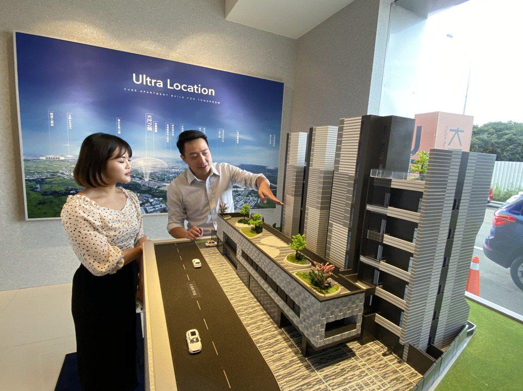 屏仕建設在沙鹿新光田特區規劃推出的「大尺之間」大樓預售案,潛銷迅速賣破五成,成為...