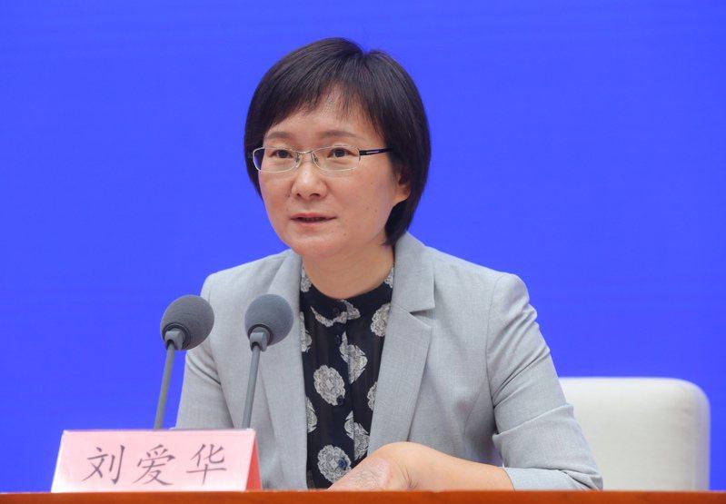 大陸國家統計局新聞發言人、國民經濟綜合統計司司長劉愛華。中新社