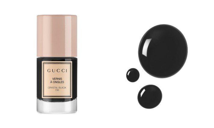 秀色在握指甲油#700黑水晶,850元。圖/GUCCI提供