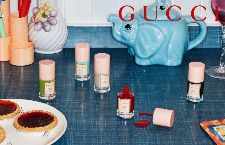 GUCCI推出「秀色在握指甲油」。圖/GUCCI提供