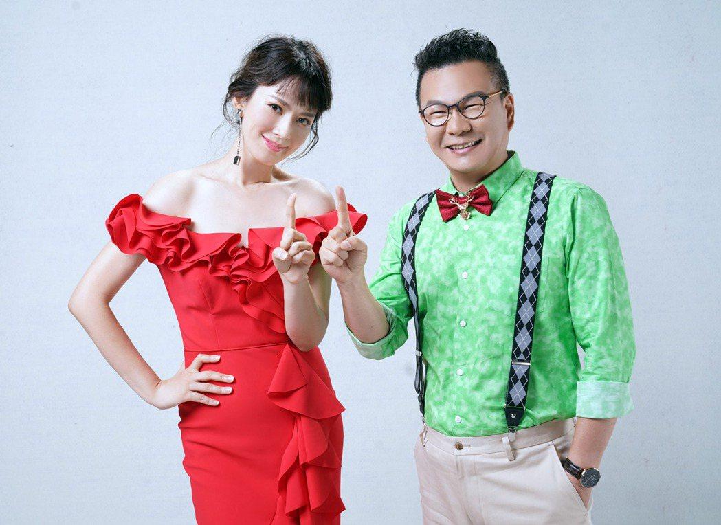 沈玉琳(右)自嘲配Melody是 「園丁加公主」的組合。圖/TVBS提供