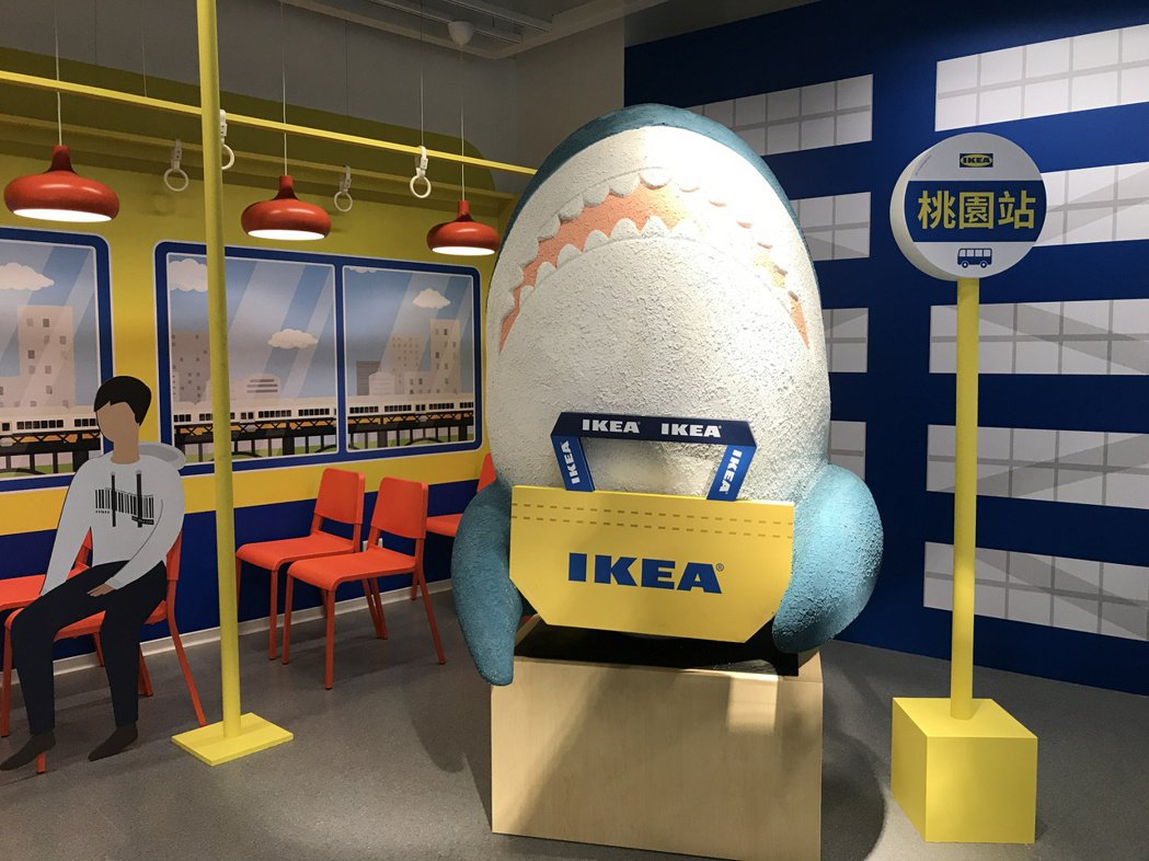 IKEA新桃園店店內人氣打卡裝置。記者江佩君/攝影