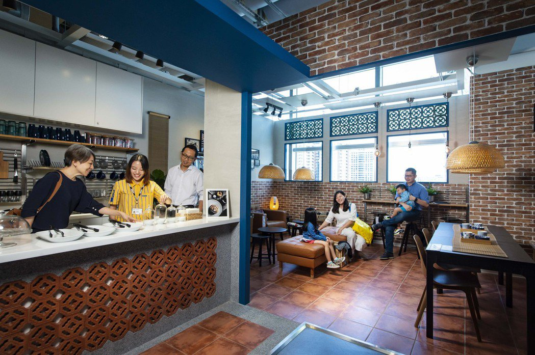 IKEA桃園店融入客家特色,打造全台首家客家咖啡廳展示間。圖/IKEA提供