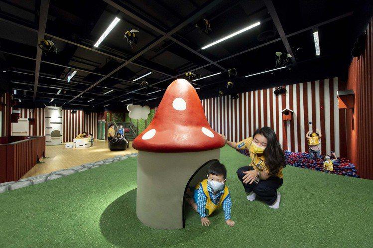 IKEA桃園店設置斯莫蘭(SMÅLAND)魔法森林兒童遊戲室。圖/IKEA提供