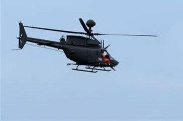 陸軍戰搜直升機在新竹墜機兩飛官殉職,圖為同型直升機參加演訓畫面。記者鄭國樑/翻攝