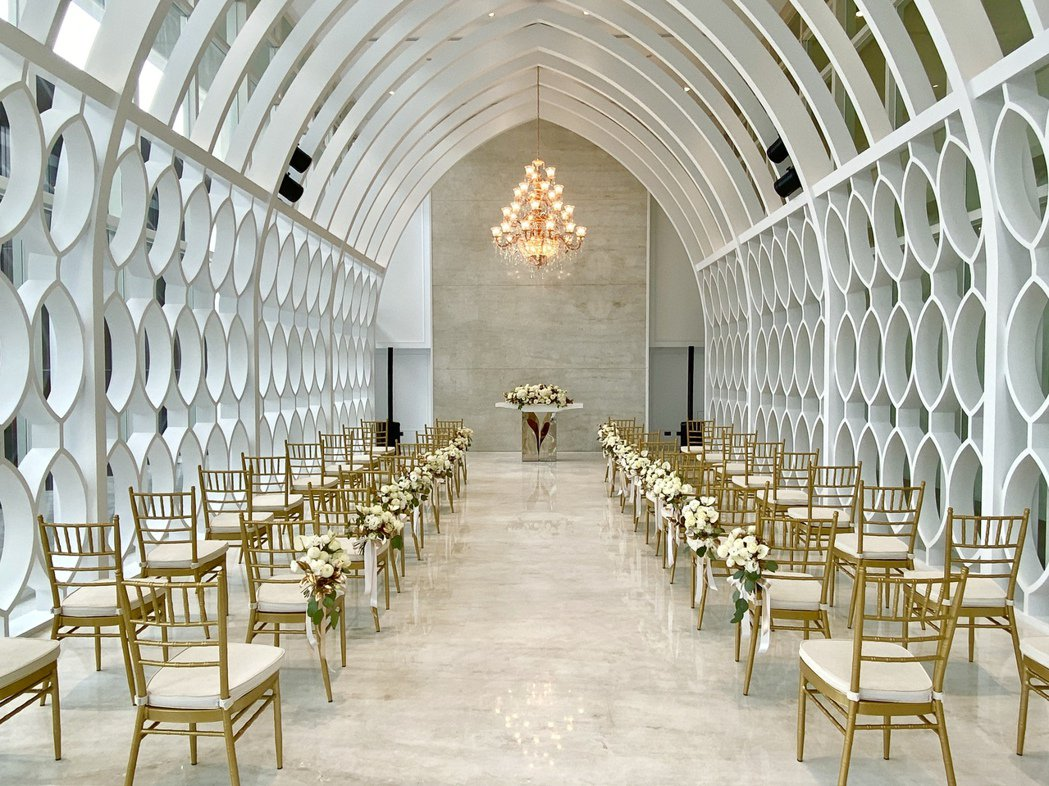 宴會專屬的儀式堂,可提供迎賓酒會與證婚典禮的場域。記者宋健生/攝影