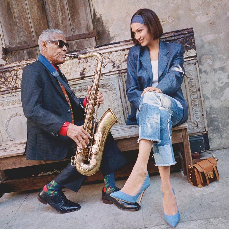 貝拉哈蒂德造訪爵士樂之城紐奧良。圖/MICHAEL KORS提供