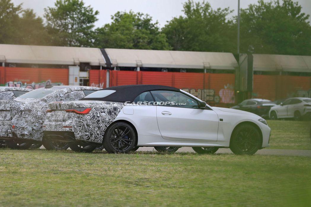 大改款BMW 4 Series Convertible輕度偽裝車。 摘自Cars...