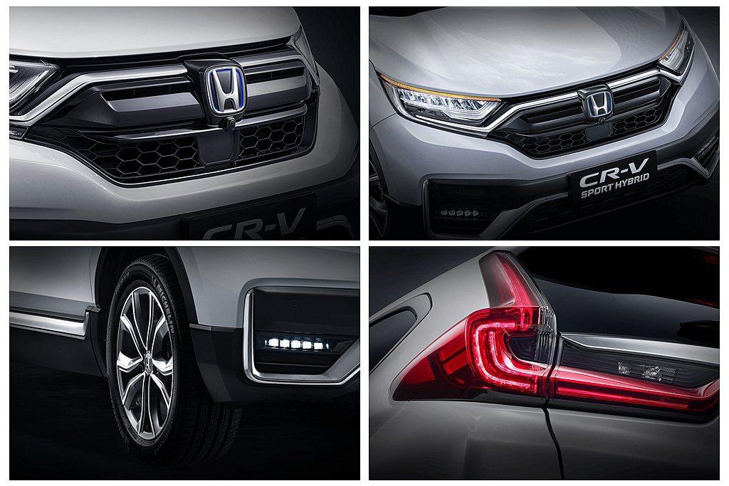 小改款Honda CR-V外觀更換新式水箱護罩(附主動進氣柵欄)、利刃式晶鑽LE...