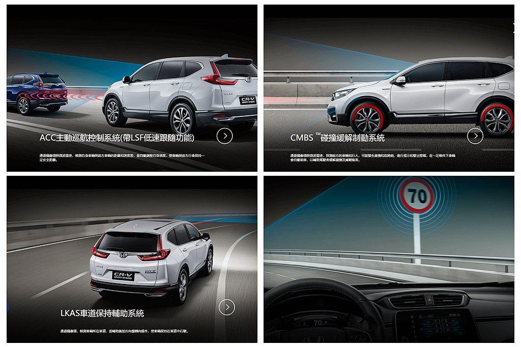 中階以上車型才有的Honda SENSING智慧安全主動防護系統,提供ACC主動...