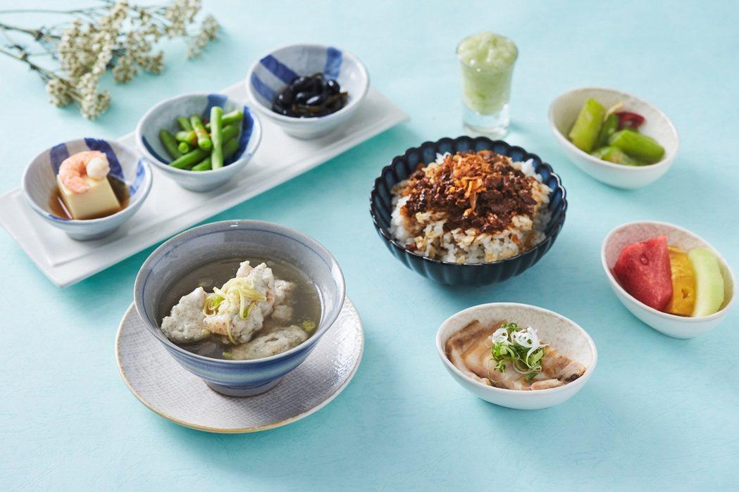 藕粉浮水魚羹&褐藻魚鬆滷肉飯。