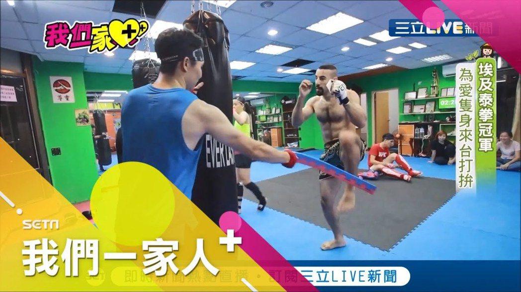 來自埃及的張莫在全國泰拳錦標賽中奪冠。圖/三立提供