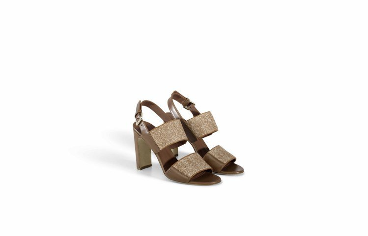 Loro Piana Kalahar亞麻編織及小牛皮涼鞋,28,100元。圖/L...