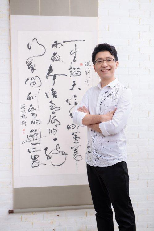身為體育人,曾文祺致力於運動與書法藝術的結合。圖/曾文祺提供