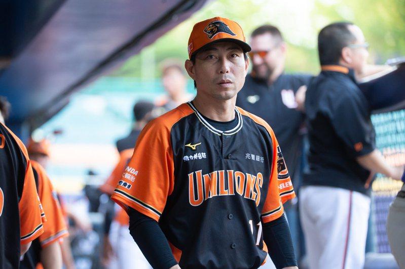 統一獅隊代總教練林岳平。 聯合報系資料照 記者季相儒/攝影