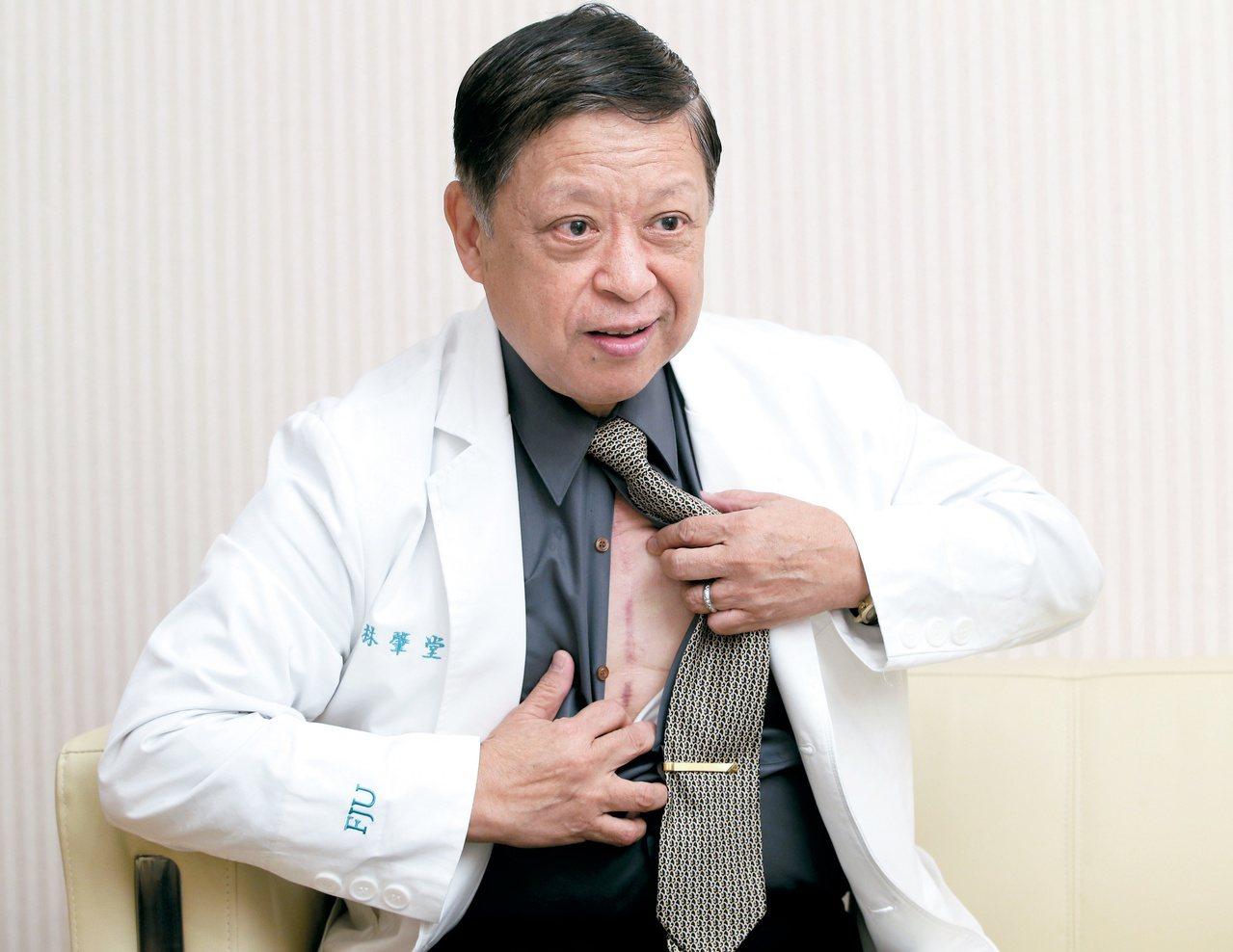 名醫林肇堂罹患罕見胸腺癌,抗癌7年。 圖/林澔一 攝影