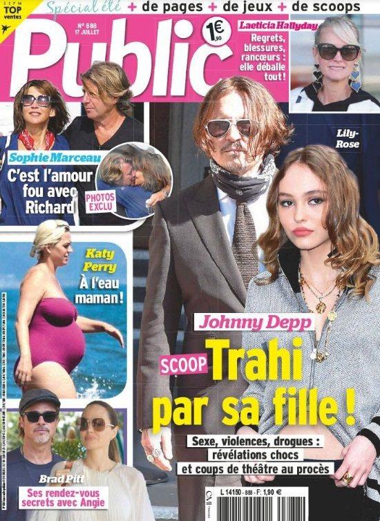 蘇菲瑪索的新戀情(左上)受到法國媒體持續關心。圖/摘自Public