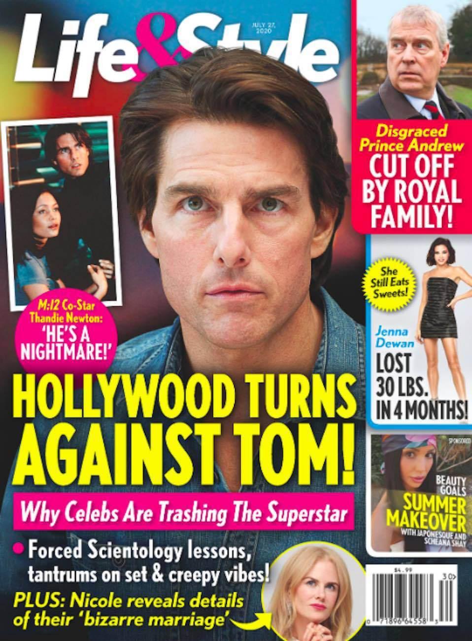 湯姆克魯斯被八卦雜誌指將被好萊塢討伐。圖/摘自Life & Style