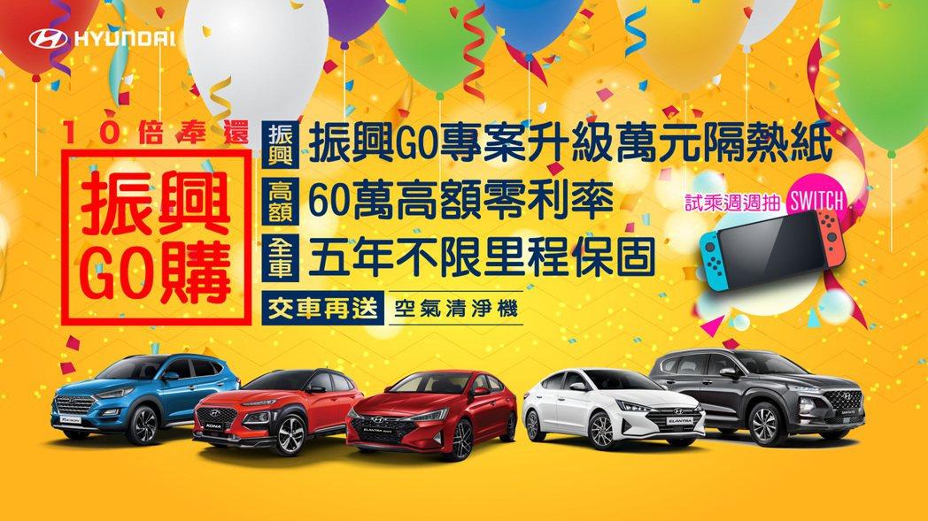 HYUNDAI推出購買新車或回廠保修超倍數回饋。政府振興券用於HYUNDAI消費...
