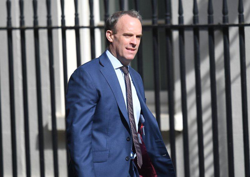 英國外交大臣拉布(Dominic Raab)。 歐新社
