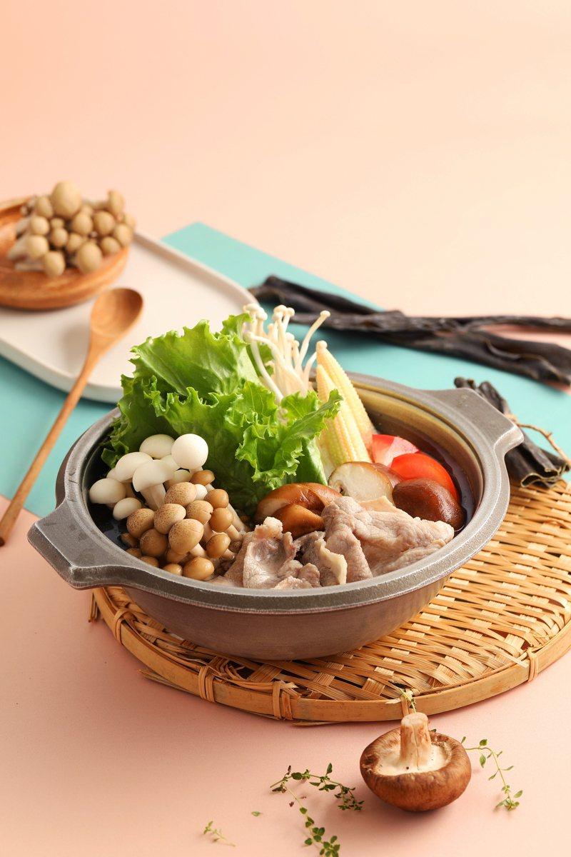 老先覺針對健身民眾所推出的「多纖菇菇鍋套餐」,每套198元。圖/老先覺提供
