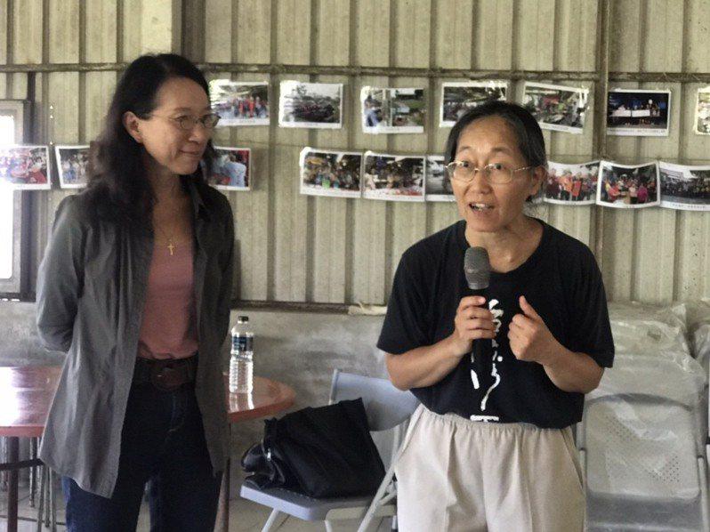 台南後壁頂長社區、成大建築系師生邀請建築師林雅茵到社區專題演講。圖/張美雪提供