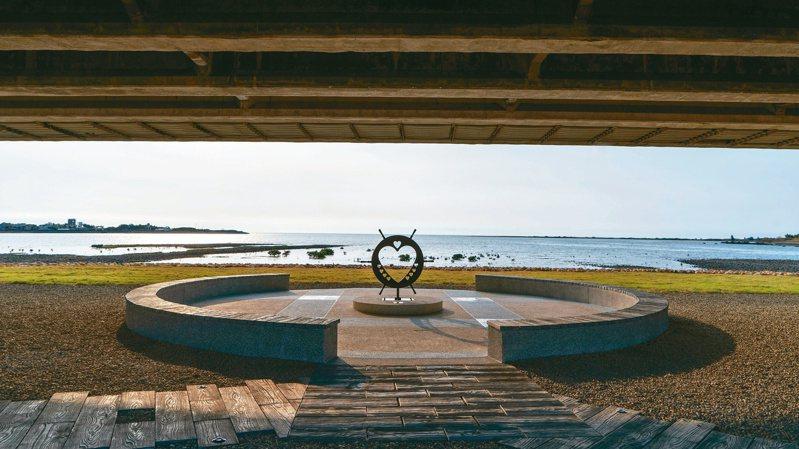 新竹市府改造舊港島,將建造賞夕陽平台。 圖/新竹市政府提供