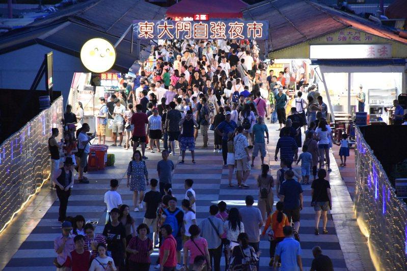 圖為花蓮東大門夜市。 聯合報系資料照/記者王思慧攝影