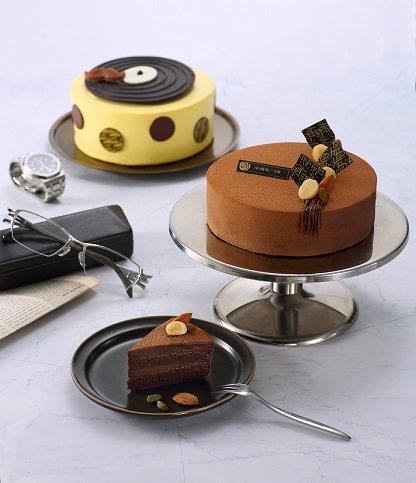 巧克力蛋糕「金牌紳士」(限6吋)。濃郁的比利時巧克力,以大豆蛋白取代蛋和奶的工序...