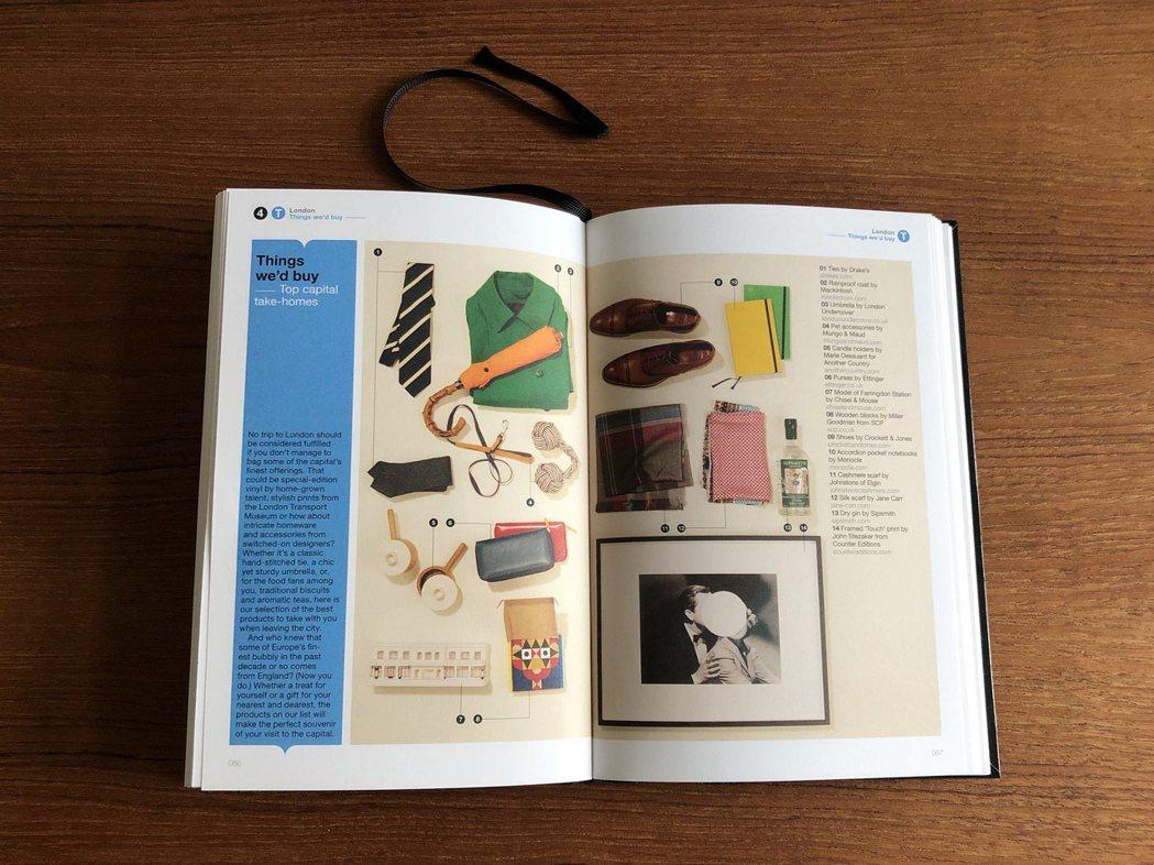 從「編輯推薦」的紀念品頁面,看得出一本旅遊書的讀者群喜歡這些單元。 圖/許育華拍...