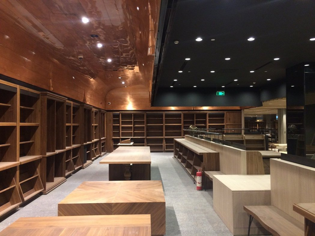 沒能成為現實的誠品上海中心店,是一種未來書店型態的示範。 圖/李擴提供