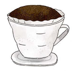 沖泡秘訣:悶蒸時,會讓咖啡粉膨脹鼓起約2倍高。 圖/摘自《陶鍋炒豆學:機器烘豆無...