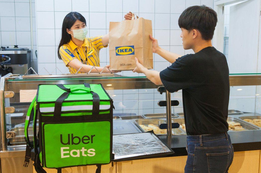 IKEA攜手Uber Eats推出美食外送服務,初期IKEA大台北地區三家店支援...