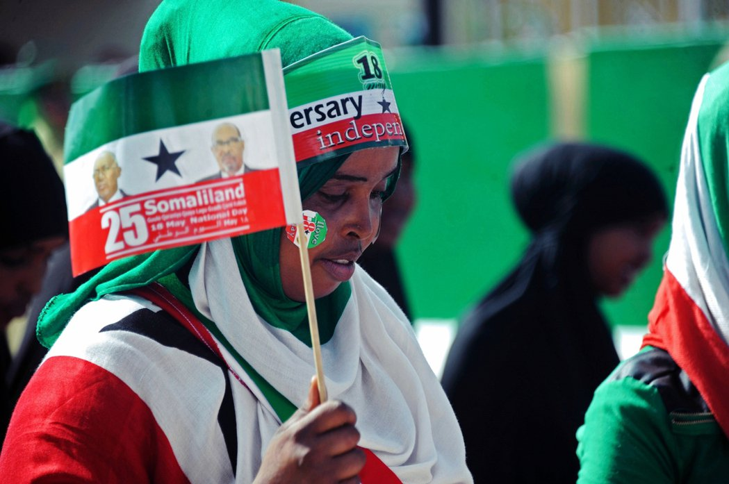 索馬利蘭民眾,慶祝索馬利蘭自1991年,從索馬利亞獨立的25周年。 圖/法新社
