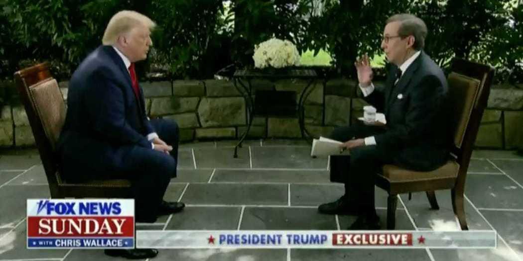 川普接受福斯電視網節目「福斯週日新聞」訪問時,被問到如果2020年尋求連任失利,...