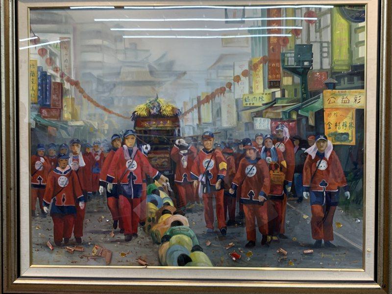 師承油畫大師黃培村的王碧芬,曾在創作這幅油畫前數度掙扎,擔心與個人信仰衝突,後轉念專心以藝術角度創作,此作品更獲2016雲林藝術獎。記者陳苡葳/攝影