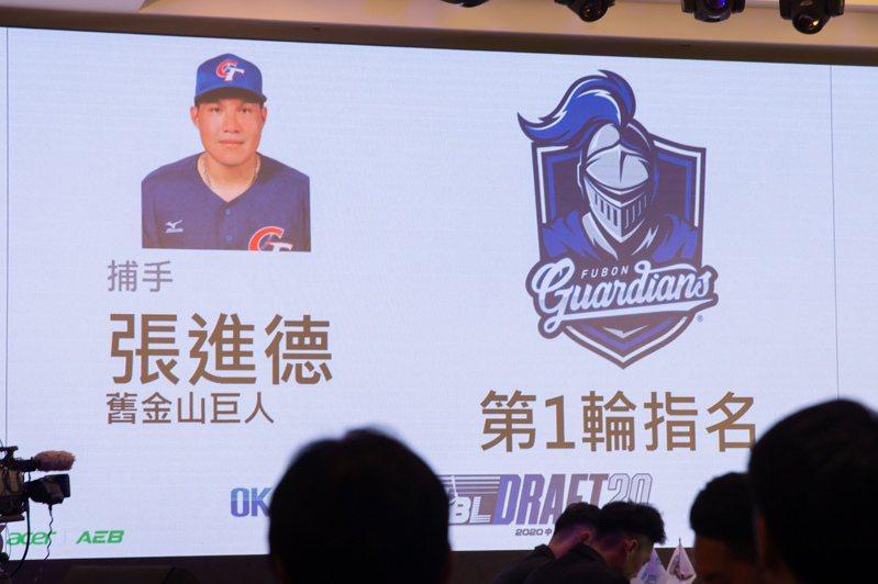2020中華職棒新人選秀,富邦悍將第一輪指名張進德。記者季相儒/攝影