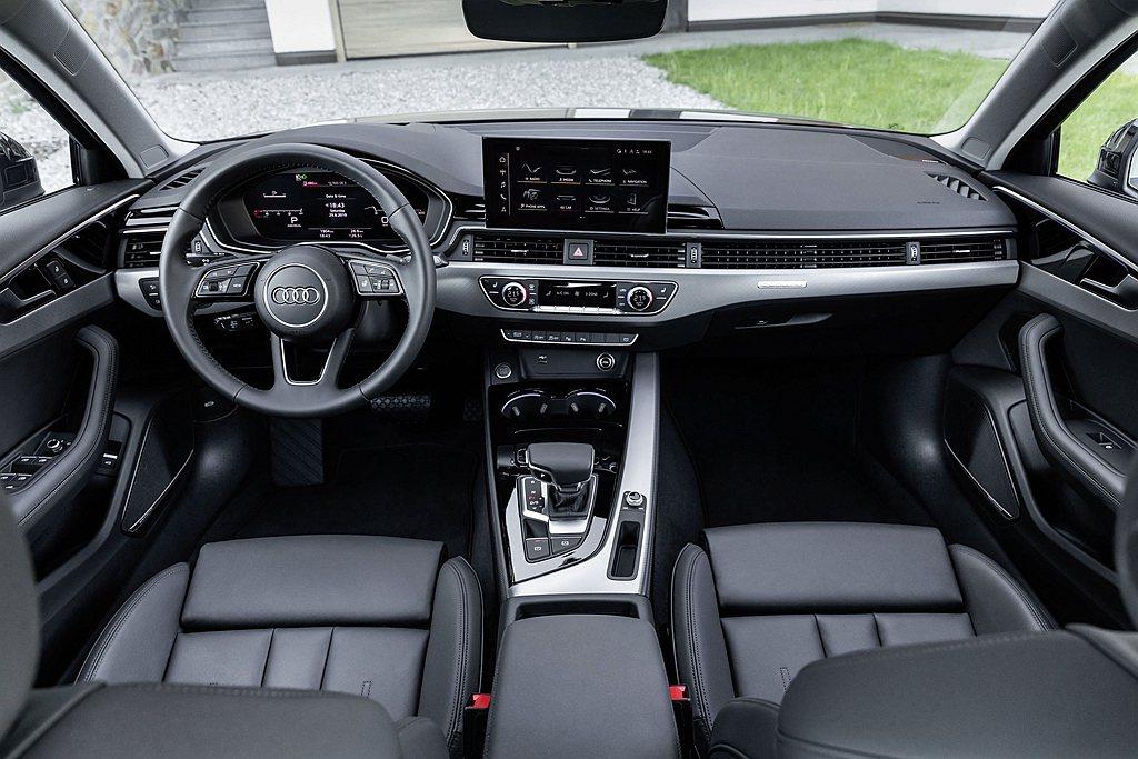 小改款Audi A4標配12.3吋Audi全數位虛擬駕駛座艙plus、新一代MM...