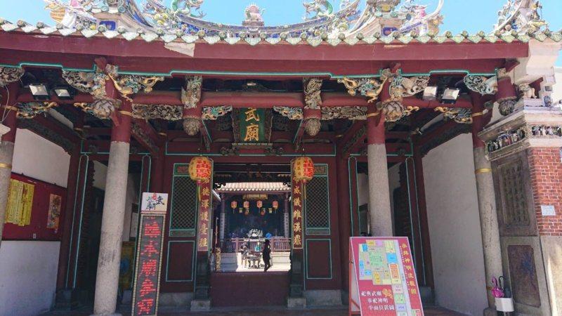 五條港區寺廟、古蹟多,祀典武廟為台南最有名的古蹟廟宇之一。 圖/鄭惠仁 攝影
