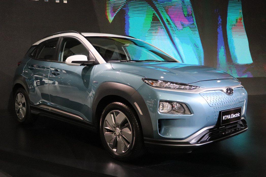 Hyundai Kona Electric是品牌第一款純電休旅。 記者黃俐嘉/攝...