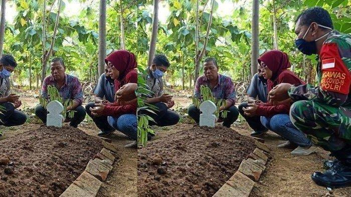 印尼一名男子在今年4月底在路上發現一具已經腐爛已久的屍體,隨後他好心的幫忙安葬,不料近日卻被警方告知原來那具屍體,就是自己失蹤3個多月的兒子。圖擷自tribunnews.com