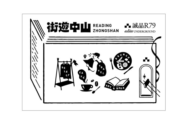 誠品R79即日起至9/14,攜手南西商圈11個店家推出「79街遊卡」可享專屬優惠...