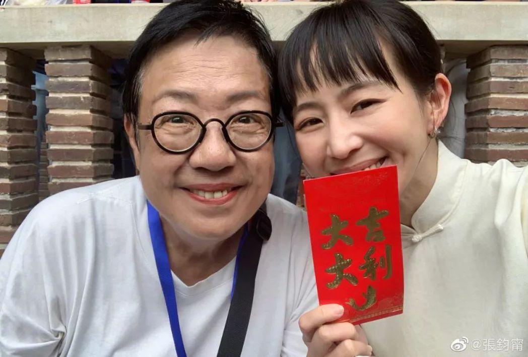 張鈞甯(右)先前與許鞍華合作電影「第一爐香」,該片改編自張愛玲的經典同名小說。圖...