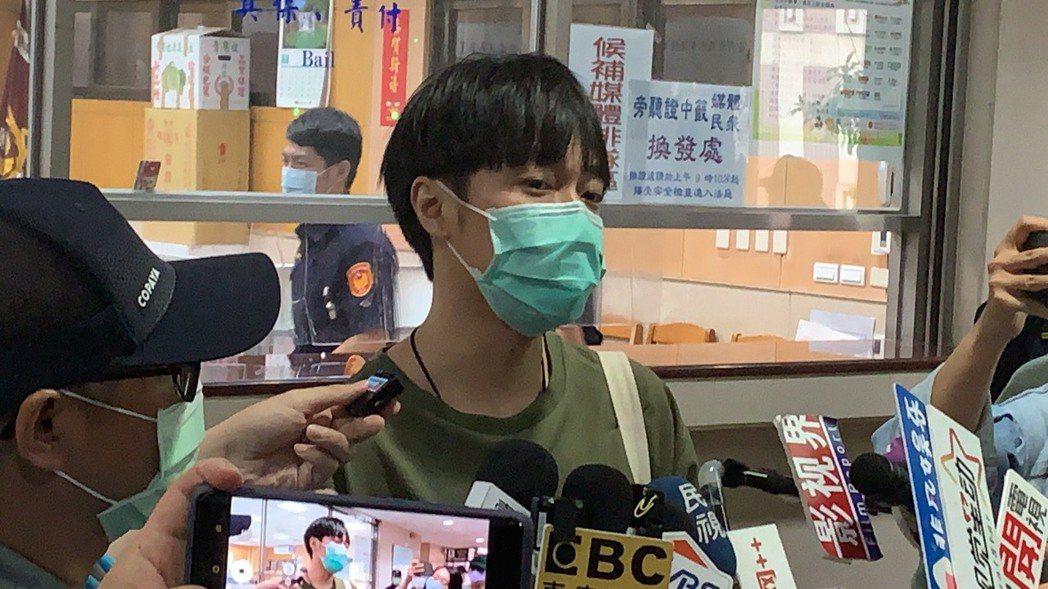 青峰被控違反著作權法,今天到台北地院出庭。記者王聖藜/攝影